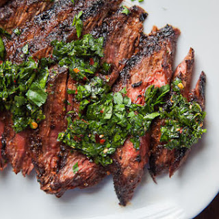 Skirt Steak Recipe with All Purpose Steak Rub and Chimichurri Sauce