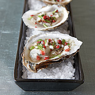 Oysters with Pink Peppercorn Mignonette