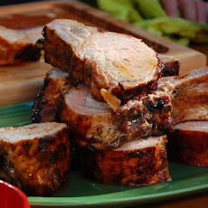 Grilled Rack of Pork with Sherry Vinegar BBQ Sauce