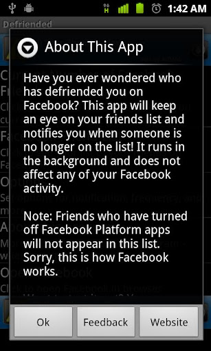 Defriended for Android