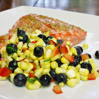 Lemon Grilled Fish With Corn Salad