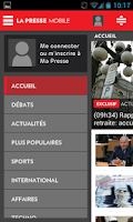 Screenshot of La Presse Mobile
