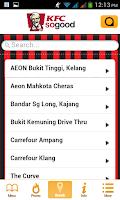 Screenshot of KFC Locator - Selangor