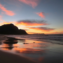 Sunrise on Main Beach,Bettys Bay by John Cope - Landscapes Sunsets & Sunrises ( main beach, sunrise, bettys bay, beach )