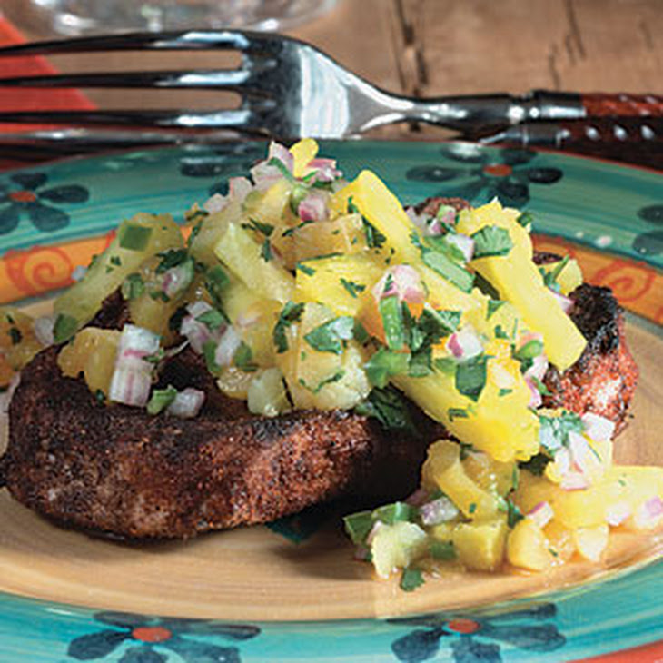Spiced Pork Chops with Pineapple Salsa Rezept | Yummly