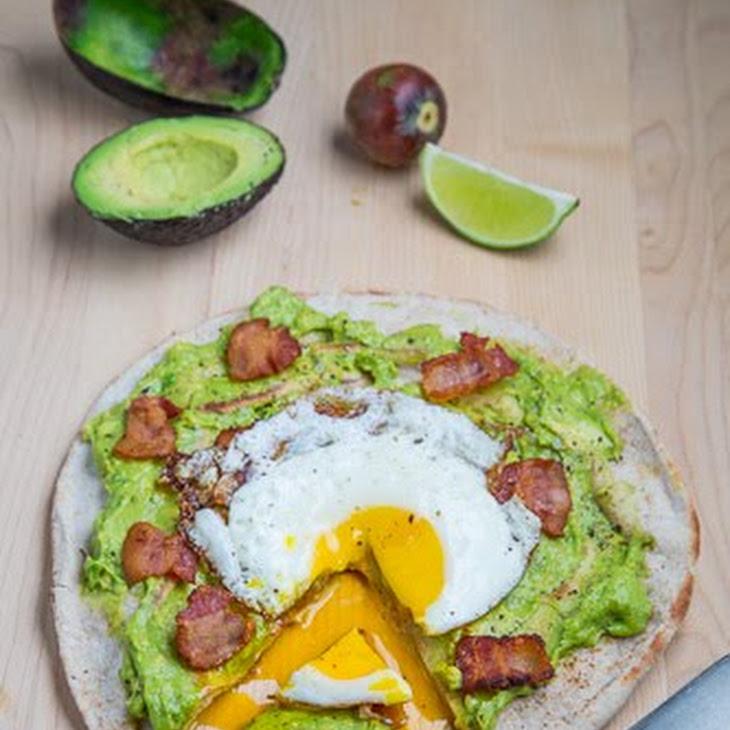 Avocado Breakfast Pizza With Fried Egg Recipe — Dishmaps
