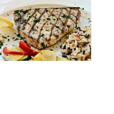 Grilled Herb-Crusted Swordfish with Lemon Butter