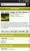 Screenshot of The Golf Lodge at The Quarry