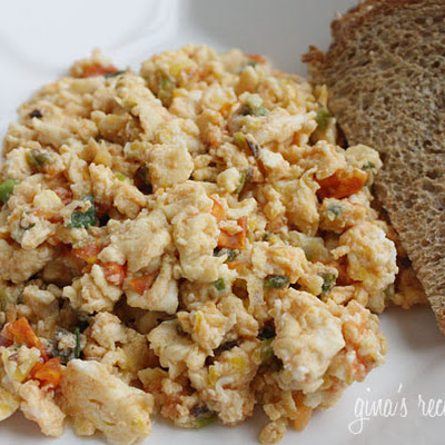 Eggs with Scallions and Tomatoes