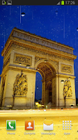 Screenshot of Rainy Paris Live Wallpaper