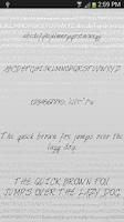 Screenshot of Hand3 fonts for FlipFont® free