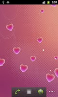 Screenshot of Hearts Live Wallpaper
