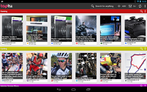 taptu-dj-your-news for android screenshot