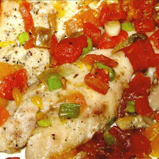 Baked Red Snapper With Citrus - Tomato Topping