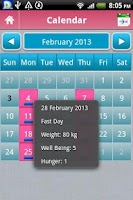Screenshot of TrackMyFast 5:2 Diet