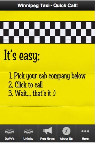 Winnipeg Taxi Duffy's Unicity