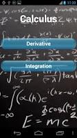 Screenshot of Calculus Formulas