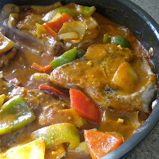 Chunky Pepper and Pork Chop Skillet