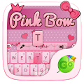 Download Pink Bow GO Keyboard Theme APK to PC