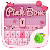 APK App Pink Bow GO Keyboard Theme for BB, BlackBerry