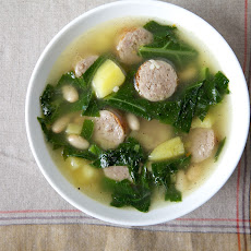 Beans and Greens Soup (With a Little Italian Sausage )