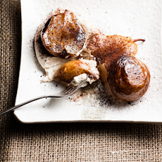 Roasted Pears with Espresso Mascarpone Cream