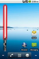 Screenshot of Battery Widget Lightsaber