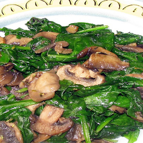 Sauteed Spinach and Mushroom