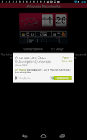 Screenshot of Arkansas Razorbacks Live Clock