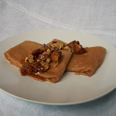 Buckwheat Ricotta Blintzes with Figgy Relish