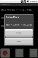 Screenshot of VoiceMemo