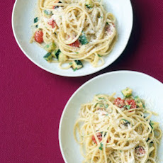 Roasted Zucchini and Tomato Pasta