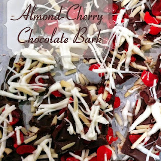 Almond-Cherry Chocolate Bark - Easy