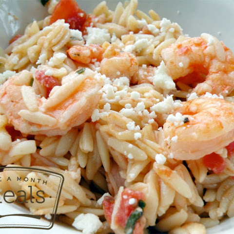 Shrimp and Orzo Bake