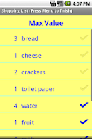 Screenshot of Simple Shopping List
