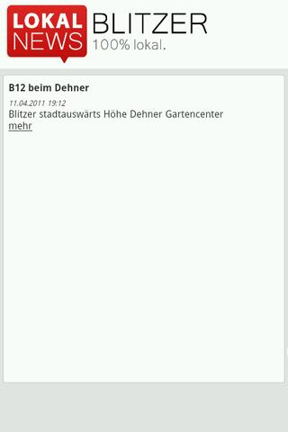 lokalnews-de-blitzerdienst for android screenshot