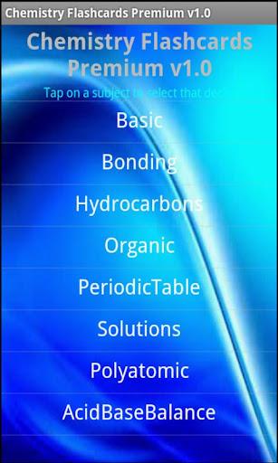 Chemistry Flashcards Premium