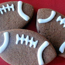 Fabulous Filbert Football Cookies Aka Super Bowl Cookies