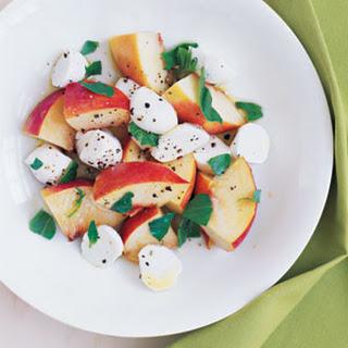 Peach Basil Mozzarella Salad Recipes