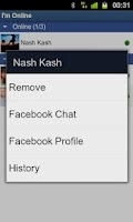 Screenshot of I'm Online for Facebook