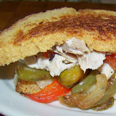 Chicken Salad and Roasted Veggie Panini