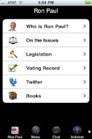 Screenshot of Ron Paul