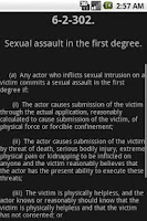 Screenshot of WYLaw - Criminal Law - Title 6