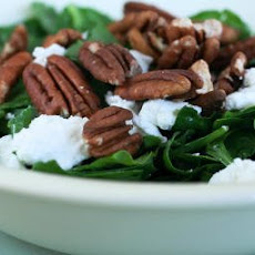 Recipe for Spinach and Sorrel Chopped Salad with Pecans and Goat Cheese