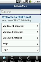 Screenshot of EBSCOhost