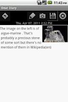 Screenshot of Dear Diary