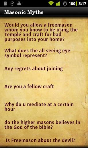 Masonic Myths