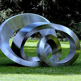 Modern Art in the Park by Petra May - Artistic Objects Other Objects