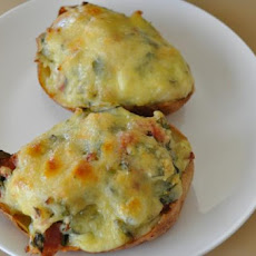 Spinach and Bacon Baked Potatoes
