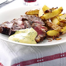 Rib-eye Steak With Basil Hollandaise